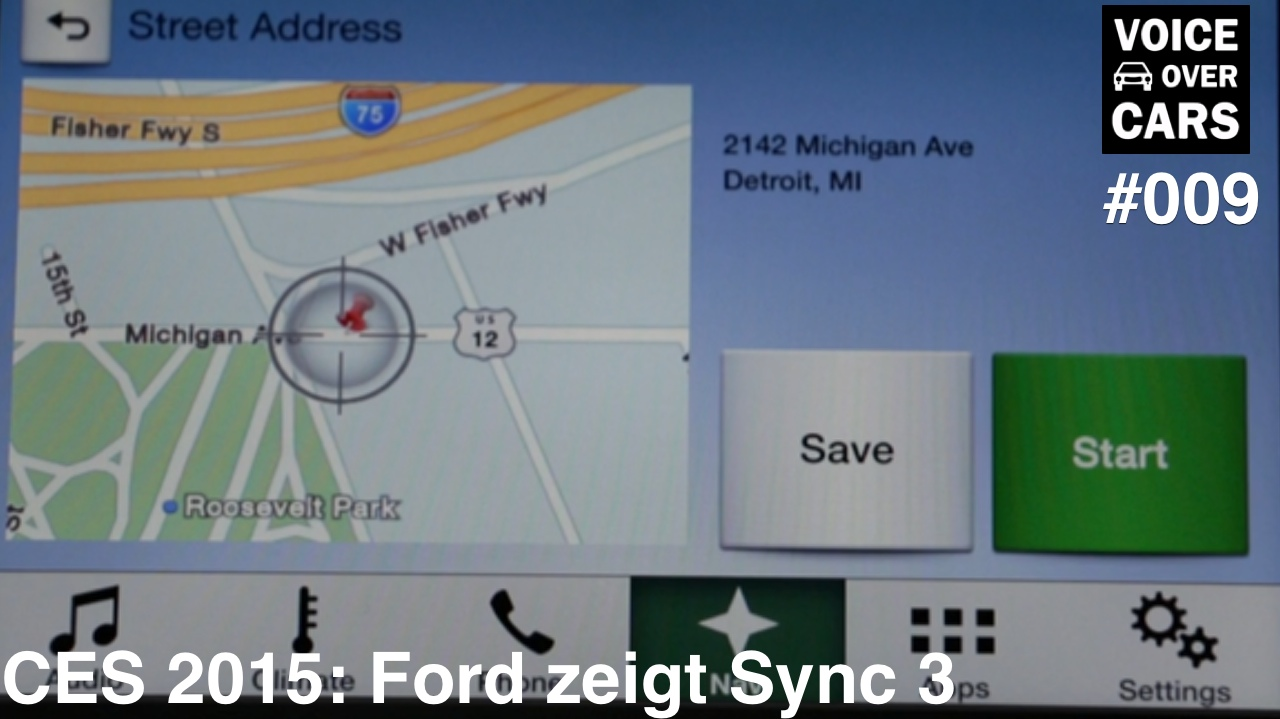 CES 2015: Ford zeigt Sync 3 – Voice over Cars News – Folge 009