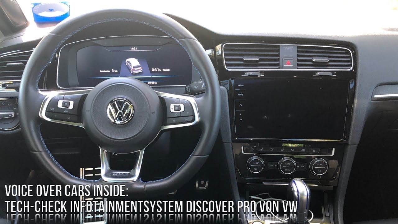 vw golf 7 gte facelift infotainment check hands on. Black Bedroom Furniture Sets. Home Design Ideas