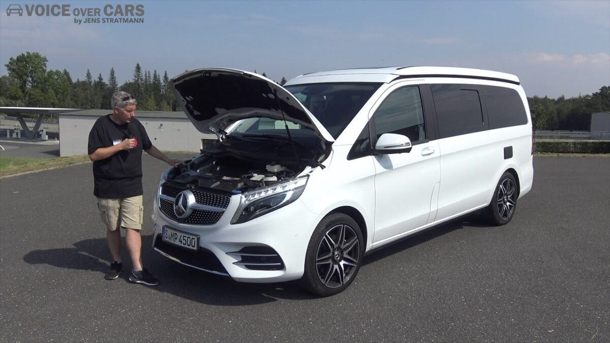 2019 Mercedes-Benz Marco Polo 300d Motor Check Blick unter die Motorhaube Voice over Cars