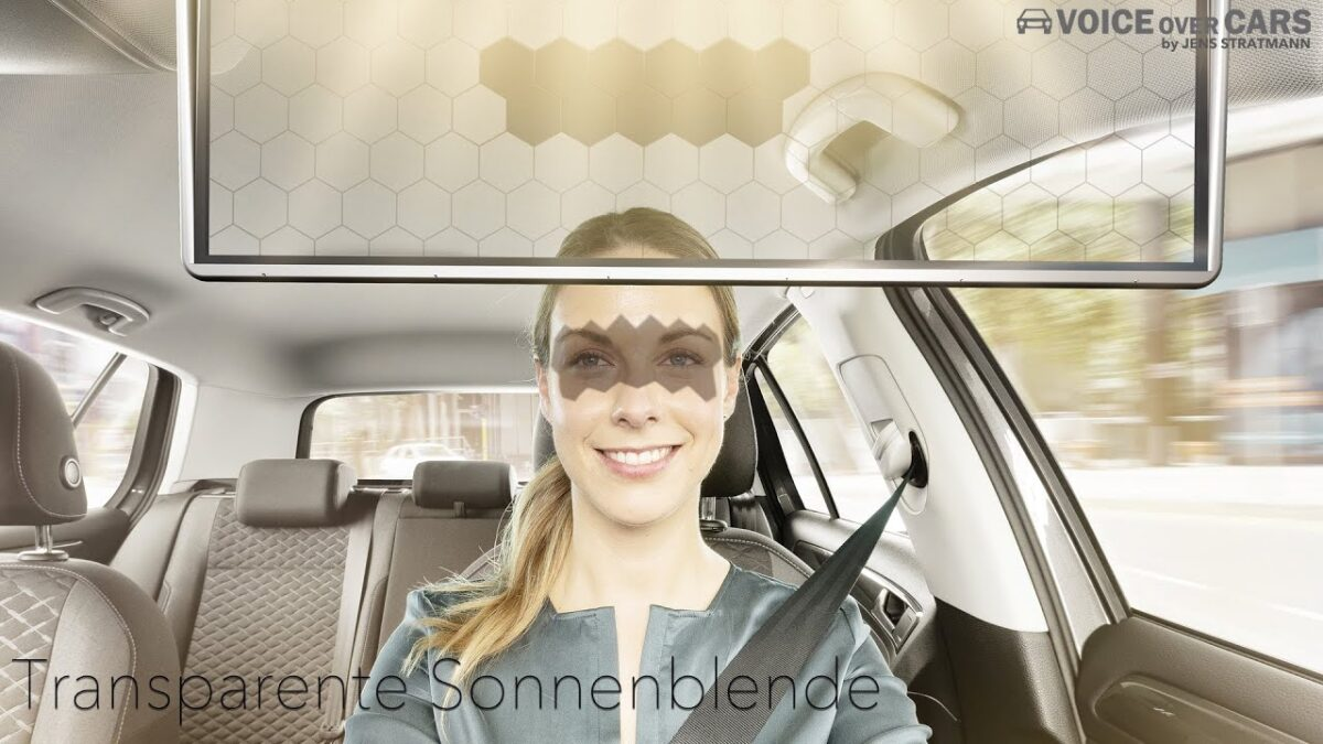 Digitale transparente LED Sonnenblende BOSCH CES 2020 Innovation Award Voice over Cars News