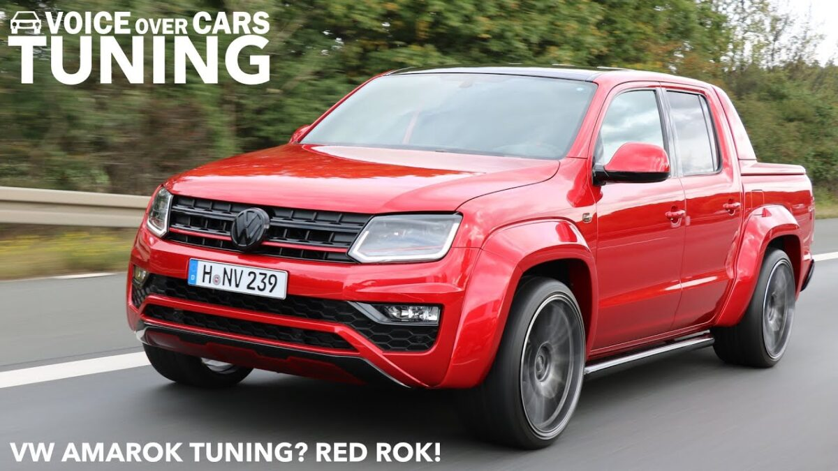 VW Amarok Tuning Red Rok | Werk2 Chiptuning | Luftfahrwerk | 22″ OZ Felgen | Voice over Cars Tuning