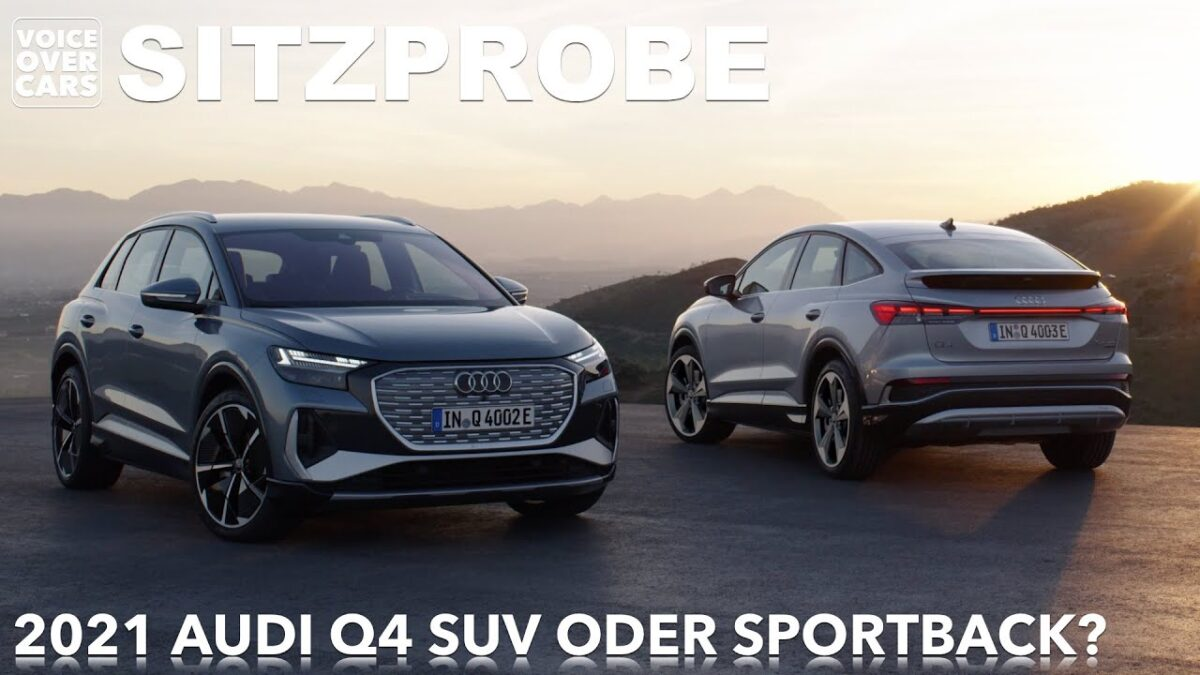Audi Q4 e-tron Sitzprobe – DIE WELTPREMIERE! | Voice over Cars & @electric drive